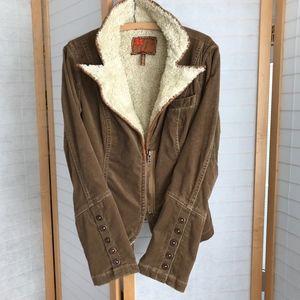 Anthropologie corduroy jacket Sherpa lining Size M